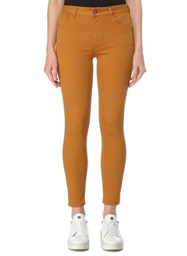 NetWork Kadın 1076524 Slim Fit Dar Paça Pantolon Camel